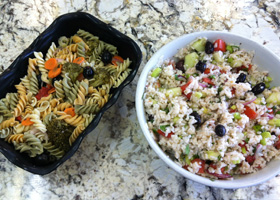 Pasta Saland and Rice Salad